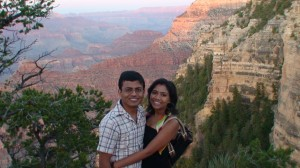 Bhawna with her hubby during their US stay.